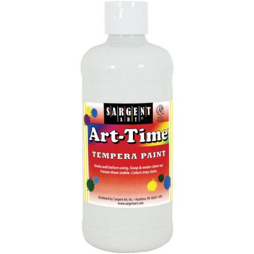 Art-Time(R) Tempera Paint 16oz-White