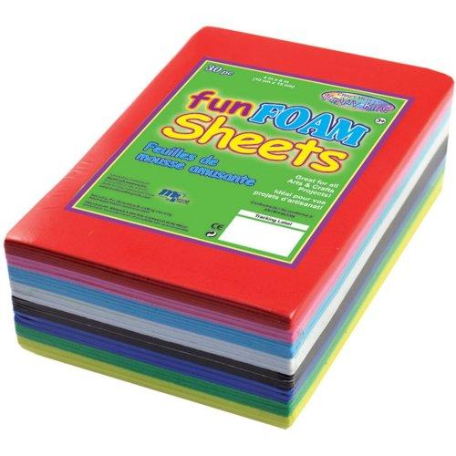 """Foam Sheets 4""""X6"""" 1.5mm 30/Pkg-Primary Colors"""