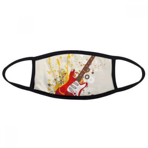Electric Guitar Jazz Music Culture Mouth Face Anti-dust Mask Anti Cold Warm Washable Cotton Gift