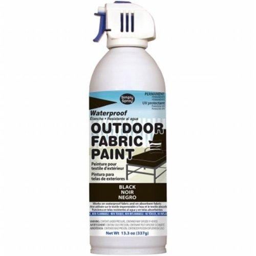 OF0046-1M Outdoor Spray Fabric Paint - 13.3 oz., Black