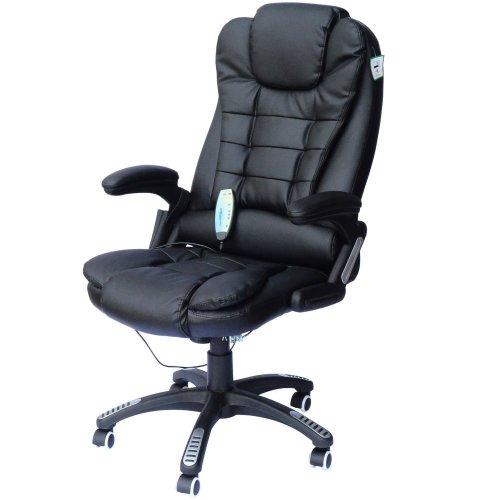 Homcom Reclining Massage Office Chair With Heat