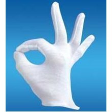 White Adults Magician Gloves -  gloves fancy dress white accessory santa magician short