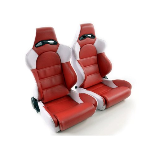 Sportseat Set Edition 1 artificial leather red / white
