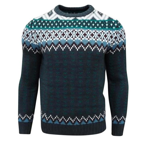 Soul Star Men's Carcus Nordic Double Knit Jumper