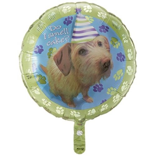 Anagram International 1181701 Party Pups Birthday Balloon 18 Multicolor On OnBuy