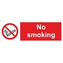 No Smoking Symbol & Text Self Adhesive Vinyl 300mm x 100mm - Castle Promotions -  smoking symbol text vinyl 100mm castle self adhesive 300mm