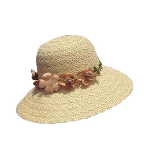 ab4b0cf954c77 Garland Straw Hat Beach Lady Big Hat Fashion Visor Sun Hat  10 on OnBuy