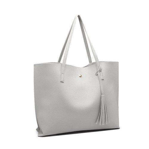 Miss Lulu Women Soft Pebbled Leather Handbag Shoulder Bag Large Tote Bag