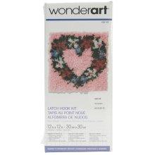 "Caron Wonderart Latch Hook Kit 12""X12""-Heart Wreath"