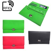 Prime Hide Luxury Soft Leather RFID SAFE Travel Planner Wallet Travel Purse