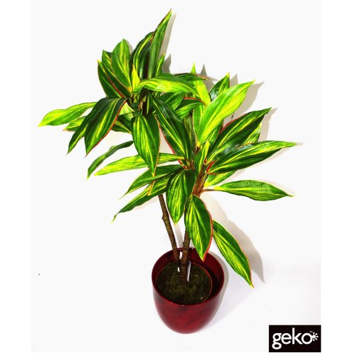 Artificial Large 90cm Dracaena Plant Realistic Foliage Tree Potted