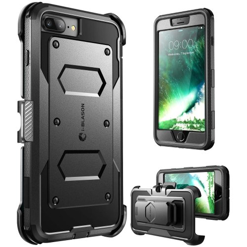 outlet store e667c 1ffe2 i-Blason iPhone 7 Plus Case, iPhone 8 Plus Case, [Armorbox] [Built In  Screen Protector] [Full body] [Heavy Duty Protection ] Shock Reduction /...