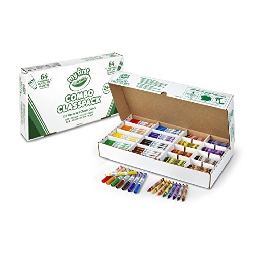 Crayola My First Washable Markers and Triangular Crayons 128 Ct Classpack