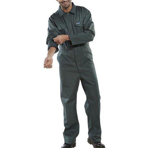 "Click PCBSS36 Polycotton Boiler Suit Spruce Green 36"""