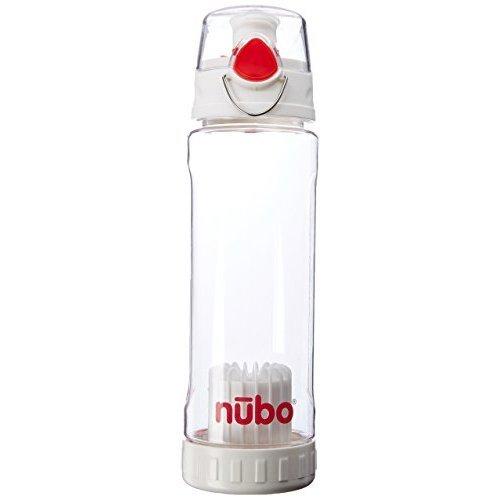 Nubo NB2423 Filtered Gen II Water Bottle Clear White Red