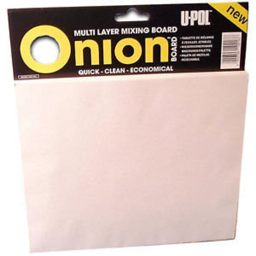 UPOL Onion Board for Body Filler Mixing 100 tear of sheets