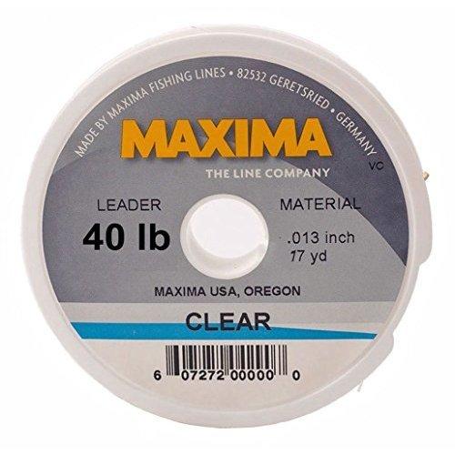 Maxima Fishing Line Leader Wheel, Clear, 40-Pound/17-Yard