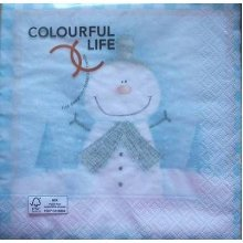 4 x Christmas Paper Napkins - Snowman - Ideal for Decoupage