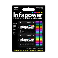 Infapower B006 Rechargeable D Ni-MH Batteries 2500mAh