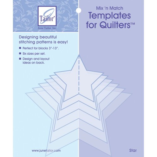 June Tailor Mix'n Match Templates For Quilters 6/Pkg-Star