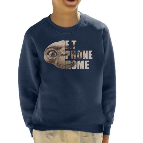 ET Half Head Text Kid's Sweatshirt