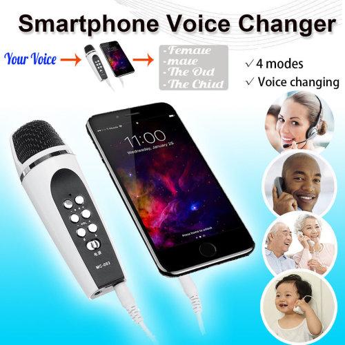 Smartphone Mobile Phone Microphone Change Voice Changer w/ Earphones