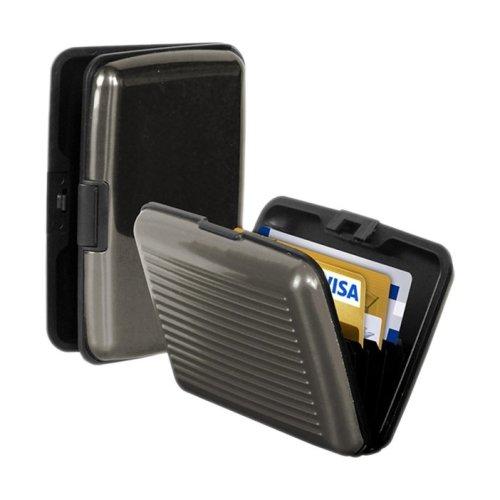 Aluminium Credit Card Business Card Holder - Grey