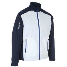 ProQuip Golf Mens Aquastorm PX1 Waterproof Rain Jacket Full Zip Navy/White X-Large