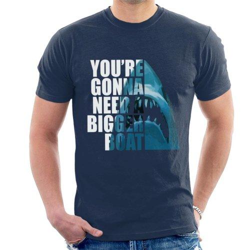 Jaws Half Head Text Men's T-Shirt