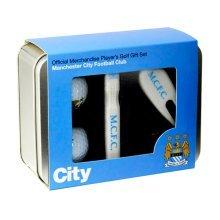 Manchester City Players Golf Gift Set - Tin Football Mens -  golf gift tin manchester city football mens players