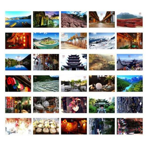 30PCS 1 Set Creative Postcards Artistic Beautiful Postcards, Lijiang Impression