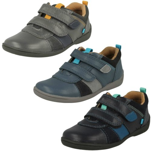 Boys Startrite Casual Hook and Loop Shoes Grip - E Fit