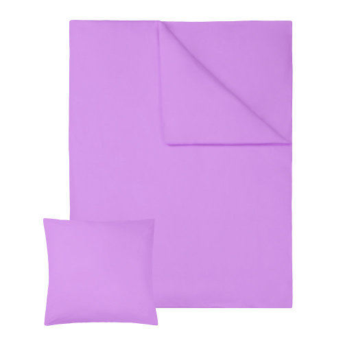 2 bedding sets 200x135cm cotton 2-piece purple