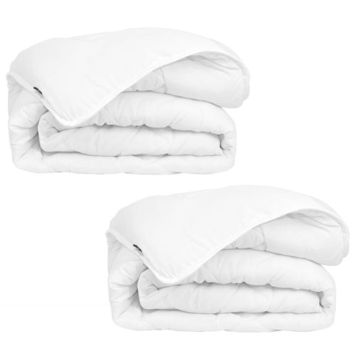 vidaXL Winter All Seasons Duvet/Quilt 2 pcs 140x200 cm White