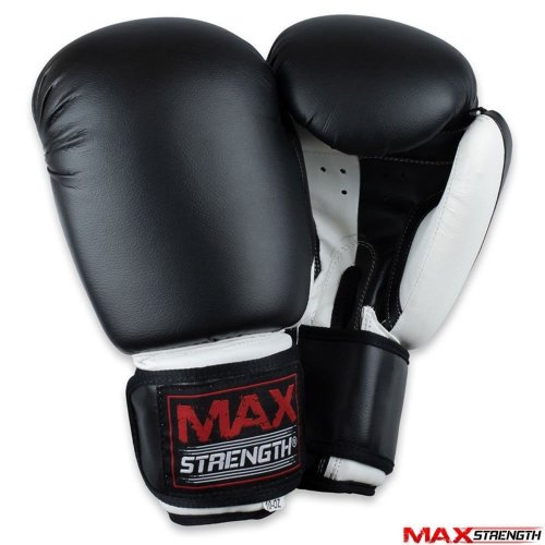 Black Boxing Punch Bag Gloves Kick Fight Training
