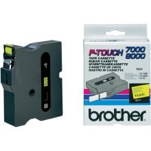 Brother TX-641 Black on yellow TX label-making tape