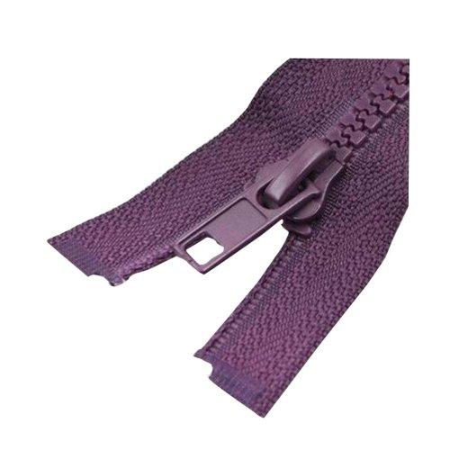 Set of 2 Coffee Nylon Clothes Zippers for Women/Men/Unisex Kids