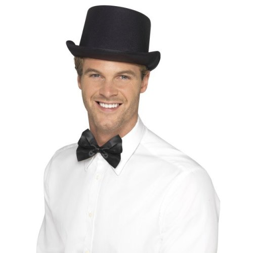 4234069d2f30b Smiffy s Men s Top Hat (black) - top hat mens black victorian magician fancy  dress accessory grey adults ladies on OnBuy