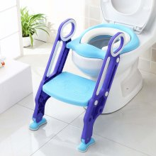 (Purple & Blue) Potty Training Seat & Step Ladder | Adjustable Toilet Training Seat