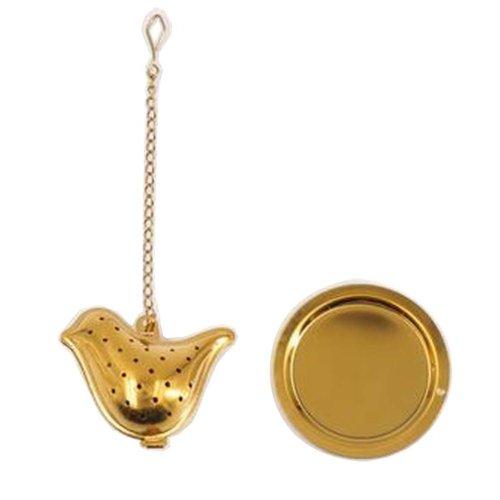[Gold Bird] Creative Spice/Tea Ball Strainer Tea Filter With Drip Trays