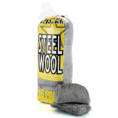 16pk All Star Fine Steel Wool Pads - #0000 Super Fine | Wire Wool Pads