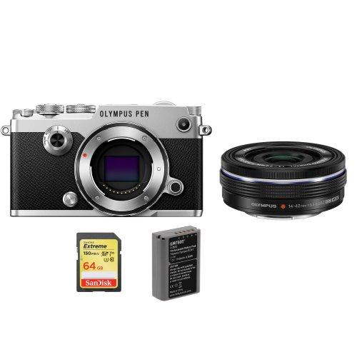 OLYMPUS PEN-F Silver+14-42mm ED Black+SanDisk Extreme 64G SD+BLN-1G