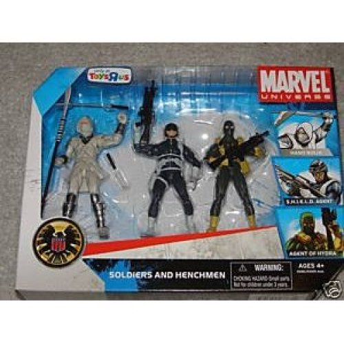 "Marvel Universe 3 3/4"" Exclusive Action Figure 3-Pack Soldiers and Henchmen (Hand Ninja, Shield Agent and Agent of Hydra)"