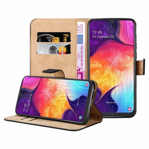For Galaxy A50 Leather Wallet Magnetic Case Cover