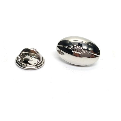 Rugby Ball Pewter Lapel Pin Badge