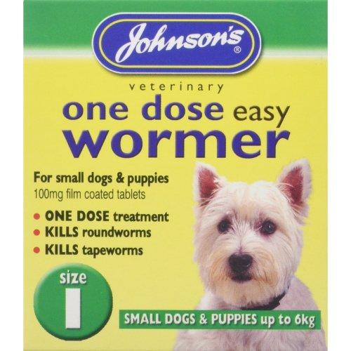 Johnson's Vet Easy One Dose Wormer, Size 1
