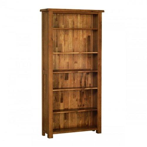Devonshire Rustic Oak Furniture Tall Bookcase