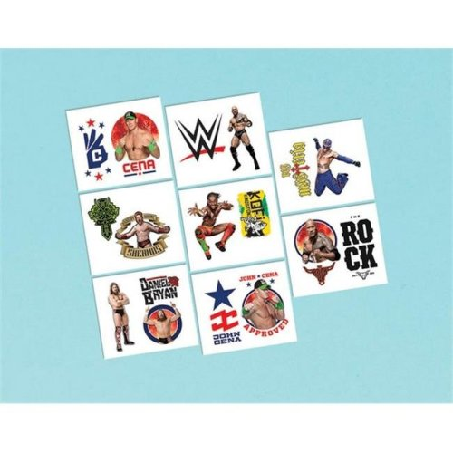 Amscan 395658 Details About Wwe 2 in. Tattoo Favors - Pack of 192