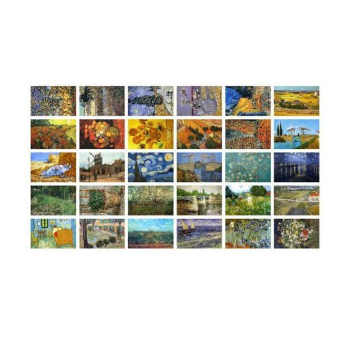 Postcard Hand Set Painting Greeting Card Scenery Collection Set