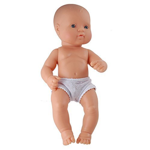 Miniland 12.63 Anatomically Correct Newborn Baby Doll, Caucasian Girl